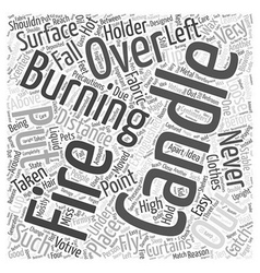 Precautions to be taken while burning candles word vector