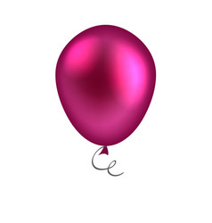Purple balloon isolated on white background vector