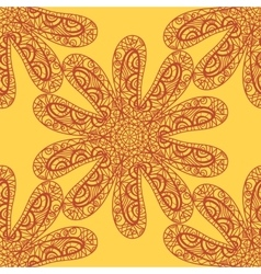 Seamless sea star doodle vector
