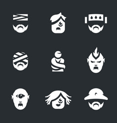 set of nuthouse people icons vector image vector image