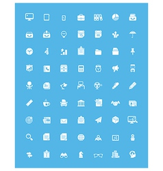 Simple business and office icon set vector
