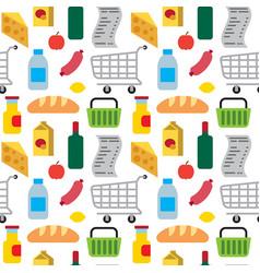 supermarket food seamless pattern vector image vector image