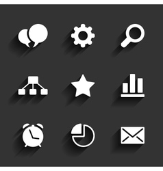 Web and mobile icons vector