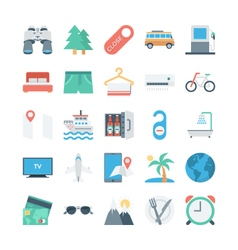 Travel and Tourism Colored Icons 2 vector image