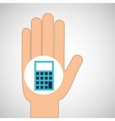 hand calculator finance icon vector image