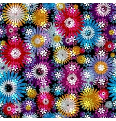 Seamless vivid floral spring pattern vector