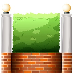 A stonewall with lampshades vector