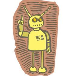 Robot gesturing alert vector