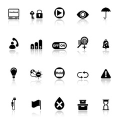Home use machine sign icons with reflect on white vector