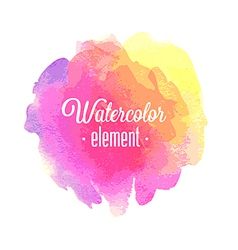Watercolor element vector