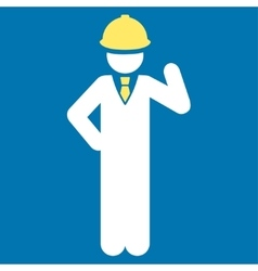 Engineer icon from business bicolor set vector
