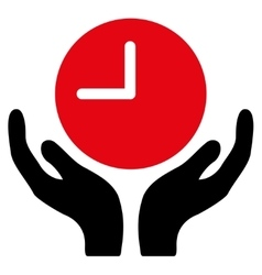Clock care icon vector