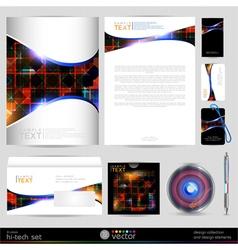 Template business set design elements vector