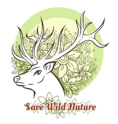 Save wilde nature vector