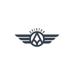 Aviator wing theme vector