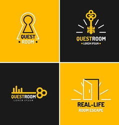 Llogo for the quest room vector