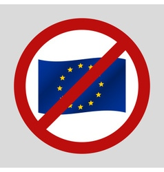 Color european union flag in the we dont want it vector
