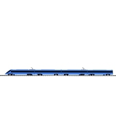 blue Fast train on white vector image