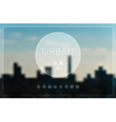Blur urban industrial factory background vector