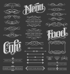 Calligraphy chalkboard design elements vector