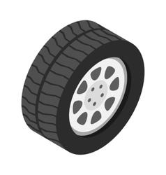 Car wheel isometric 3d icon vector