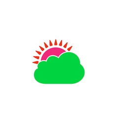 Cloudy Icon vector image