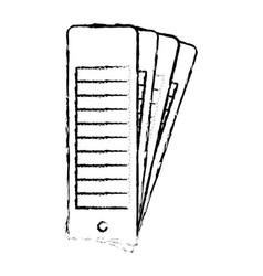 Color palette guide set in black blurred contour vector