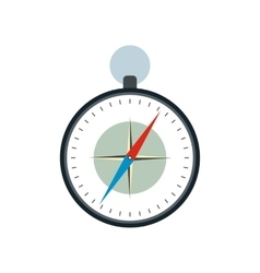 Compass with windrose flat icon vector