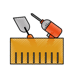 Sing roller construction icon design royalty free vector for Aik sing interior decoration contractor