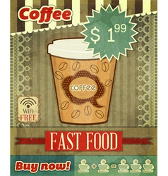 Cover for Coffee Menu vector image vector image