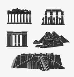 egyptian ancient architecture vector image vector image