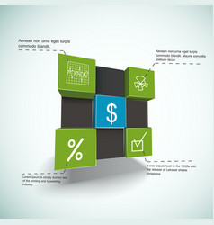 Financial cubes infographics vector