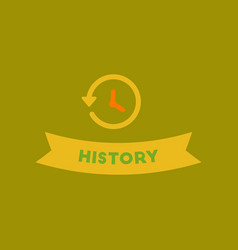 Flat icon on background history lesson vector