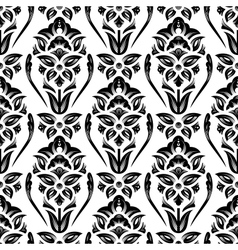 Floral damask wallpaper vector image