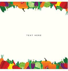 food vegetable frame vector image vector image