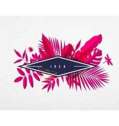 Frame floral frame pink vector