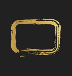 Golden grunge vintage painted rectangle shapes vector