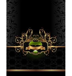 golden luxury background vector image vector image