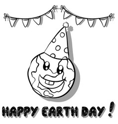 Happy earth day collection style vector