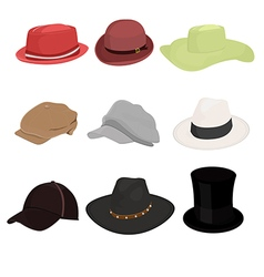 Hat collaction set 01 vector