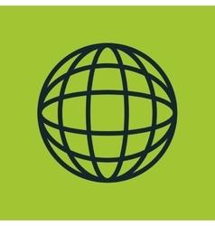 icon global earth globe design vector image vector image