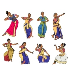 Indian dancers vector