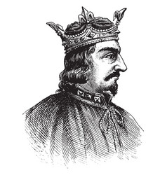 King stephen vintage vector