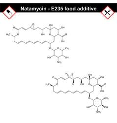 Natamycin molecule vector image vector image