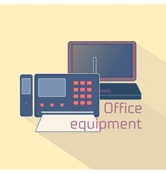 Office equipment logo vector image