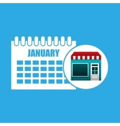 Online market buying calendar graphic vector