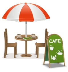 Outdoor Cafe vector image
