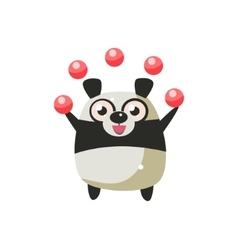 Panda bear party animal icon vector