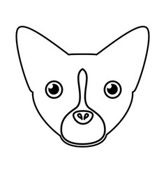 pet dog head silhouette vector image