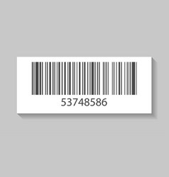 product barcode isolated icon vector image